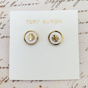 Tory Burch-white earrings